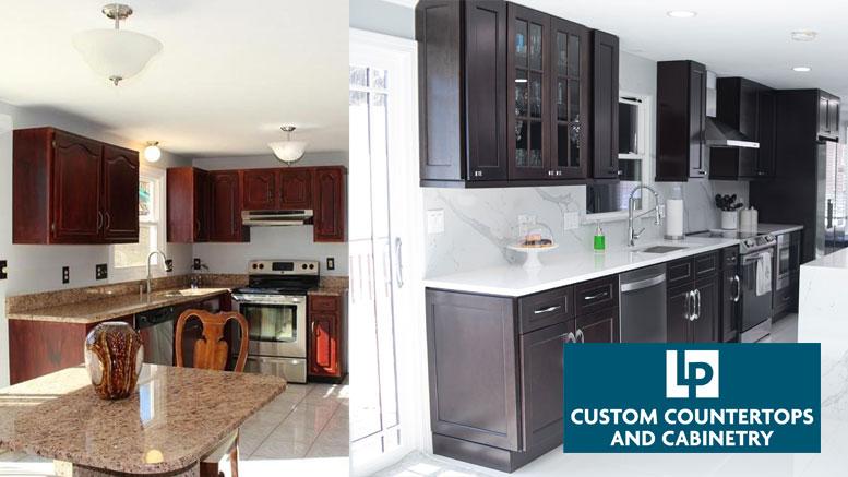 Kitchen Transformation – LP Custom CounterTop & Cabinetry