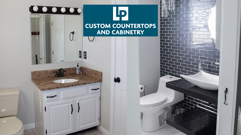 Fireplace and Bathroom Transformation – LP Custom Countertop & Cabinetry
